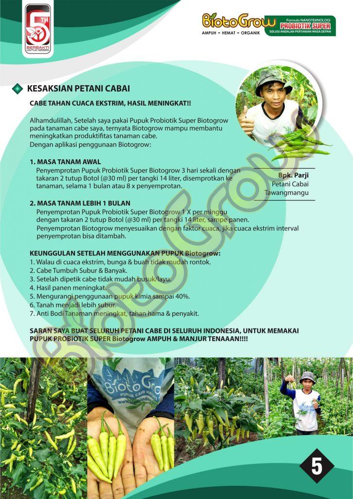 Panduan biotogrow untuk tanaman cabai 5