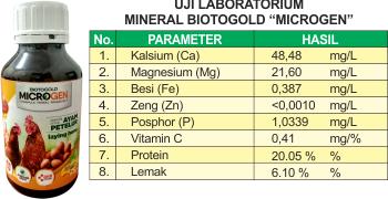 uji lap microgen nutrisi ayam petelur
